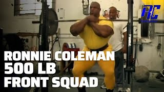 Ronnie Coleman 500lb Front Squat 2006 Mr. Olympia Leg Workout | 1080 HD