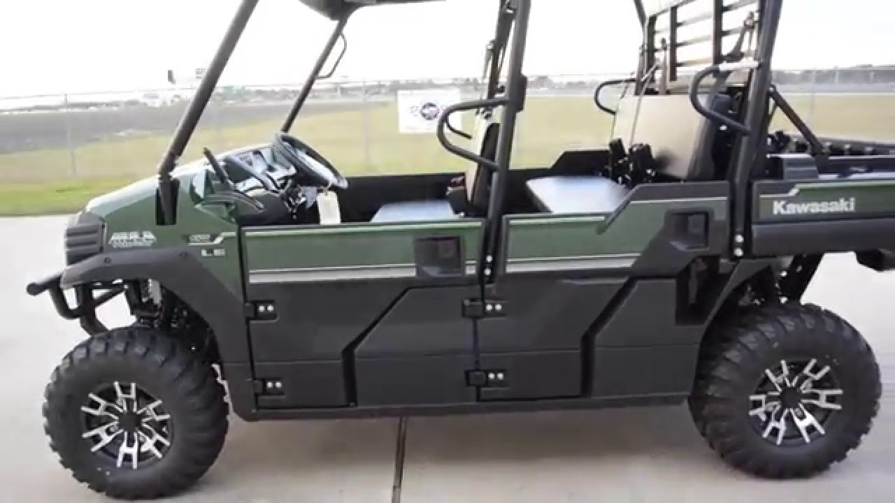 SALE $13,999: 2016 Kawasaki Mule Pro FXT EPS LE Timberline Green Overview  and Review