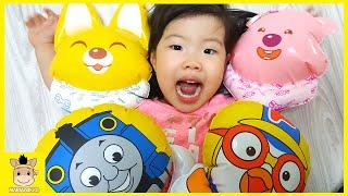 BALLOON Surprise POP Pororo giant rubber balloon Family fun For Kids| MariAndKids Toys