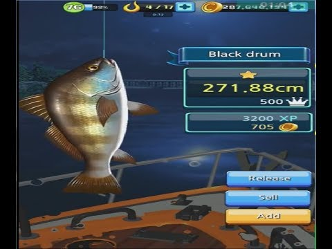 fishing hook game for android - BLACK DRUM, CORVINA NEGRA straits os florida anzol de pesca mobirix