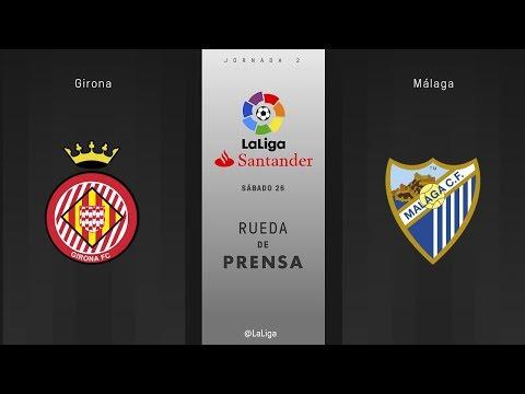 Rueda de prensa Girona vs Málaga