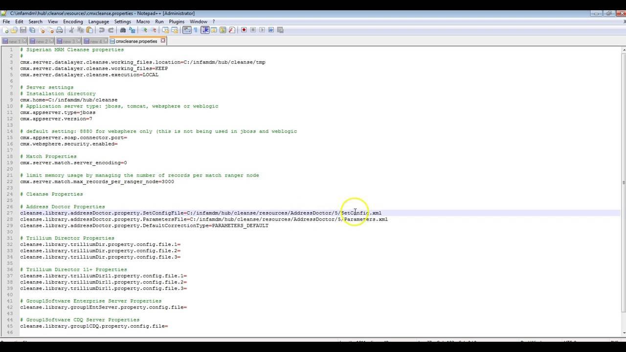 Adding new Address Doctor unlock code in MDM