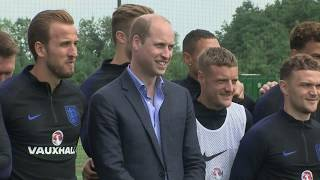 World Cup: Prince William meets England squad - 5 News