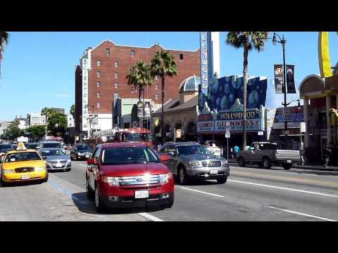 Los Angeles Hollywood Boulevard Fire Truck Emergency