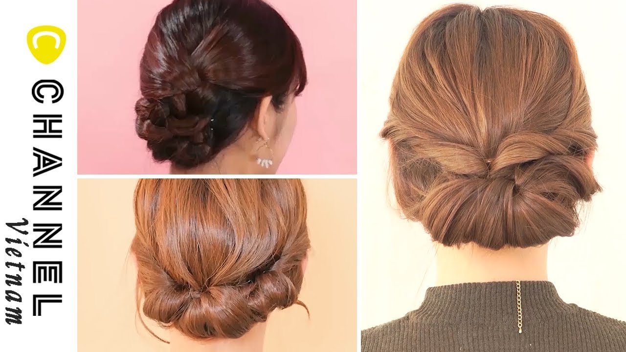 DẠY LÀM TÓC   3 cách búi tóc đơn giản