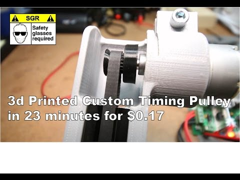 3d Printed Timing Pulley in 23 mins for $0.17