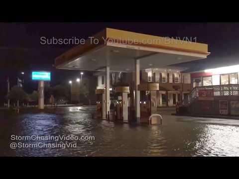 Rutherford Beach & Cameron, LA Storm Surge & flooding - Tropical Storm Cindy 2017