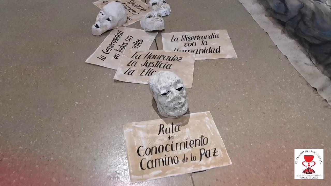María Gómez, la artista plástica del Camino del Santo Grial.