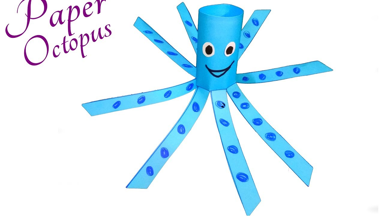 Paper Animals Crafts For Kids A Simple Octopus Craft For Preschool