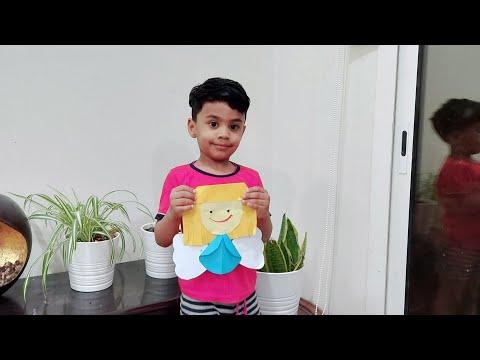 paper fairy 🧚♀️    kids craft എന്റെ ക്രാഫ്റ്റ് ഇഷ്ട്ടപെട്ടോ 😘