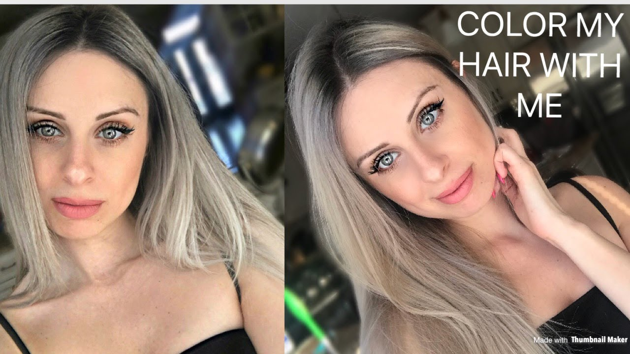Dye My Hair With Me Blending Dark Roots Into Blonde Reverse Balayage Root Smudge