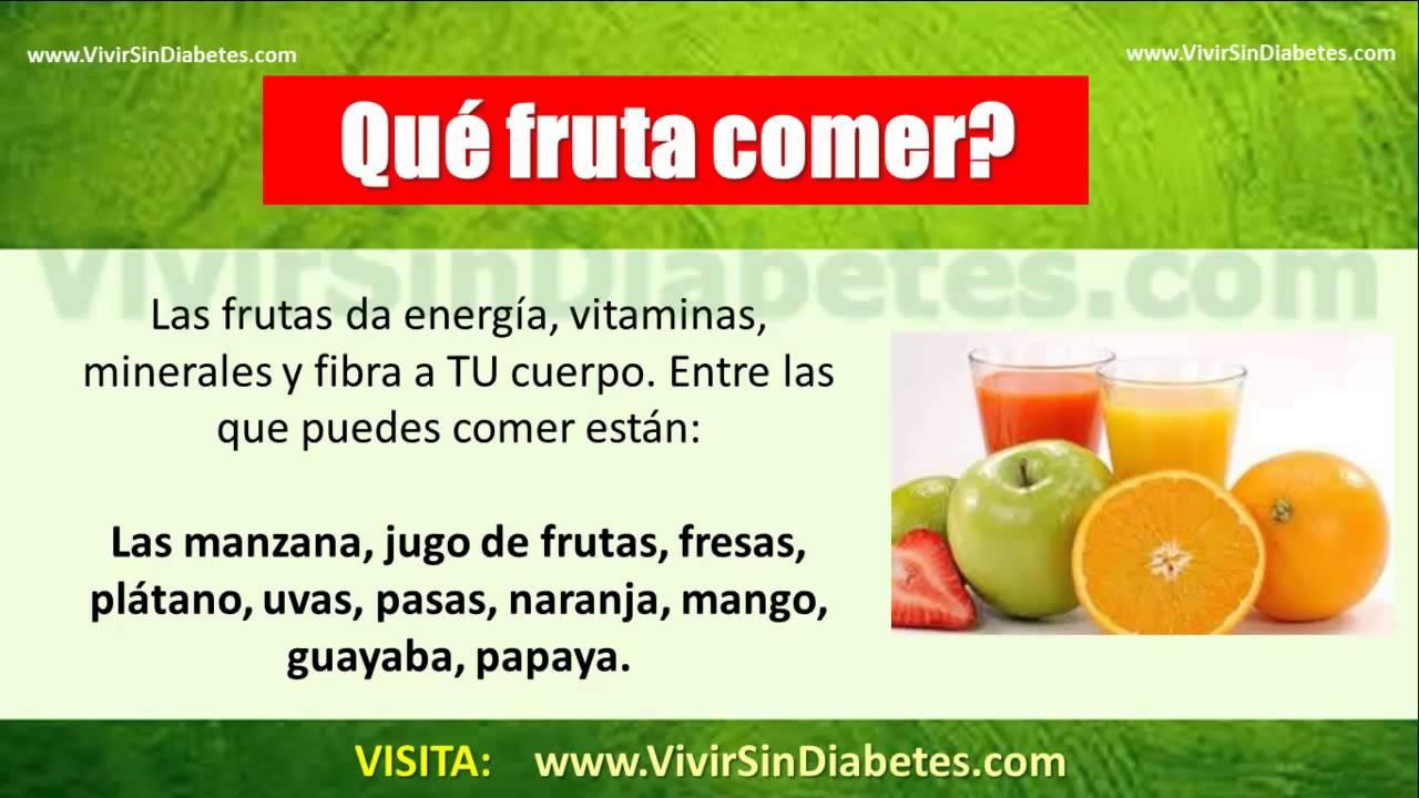Que Frutas Debe Comer Un Diabetico: SECRETO REVELADO