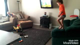 Zayn couch jumps slo-mo
