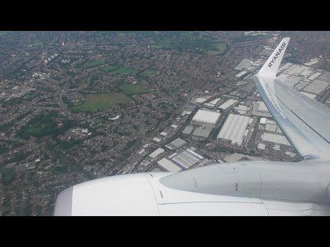 Scenic Take Off from Birmingham Int'l Airport, BHX   Ryanair Boeing 737-8AS