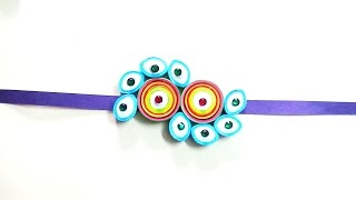 ART | CRAFT- quilling Rakhi Making Simple Steps  easy rakhi