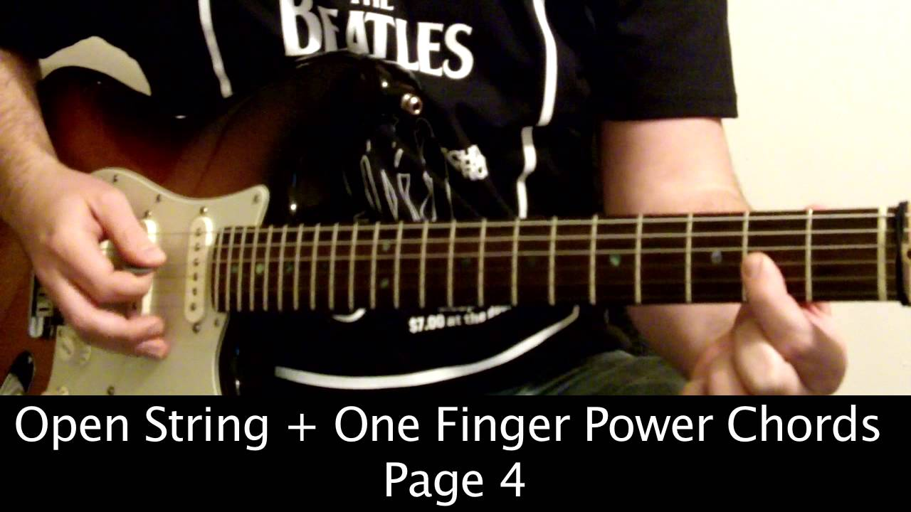 Page 4 One Finger Power Chords Guitar Youtube