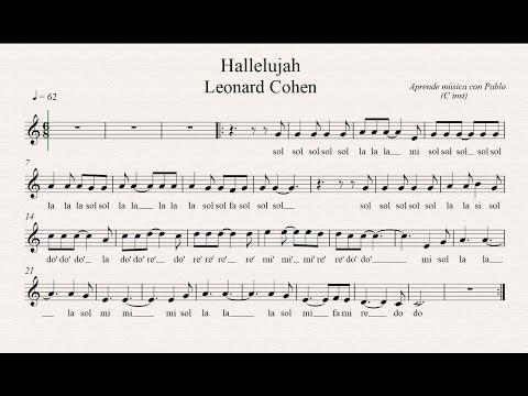 HALLELUJAH: (flauta, violín, oboe...) (partitura con playback)