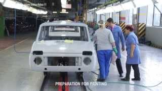 Как красят LADA 4x4 на АВТОВАЗе.LADA NIVA's Paintshop  full footage in HD (English subs)