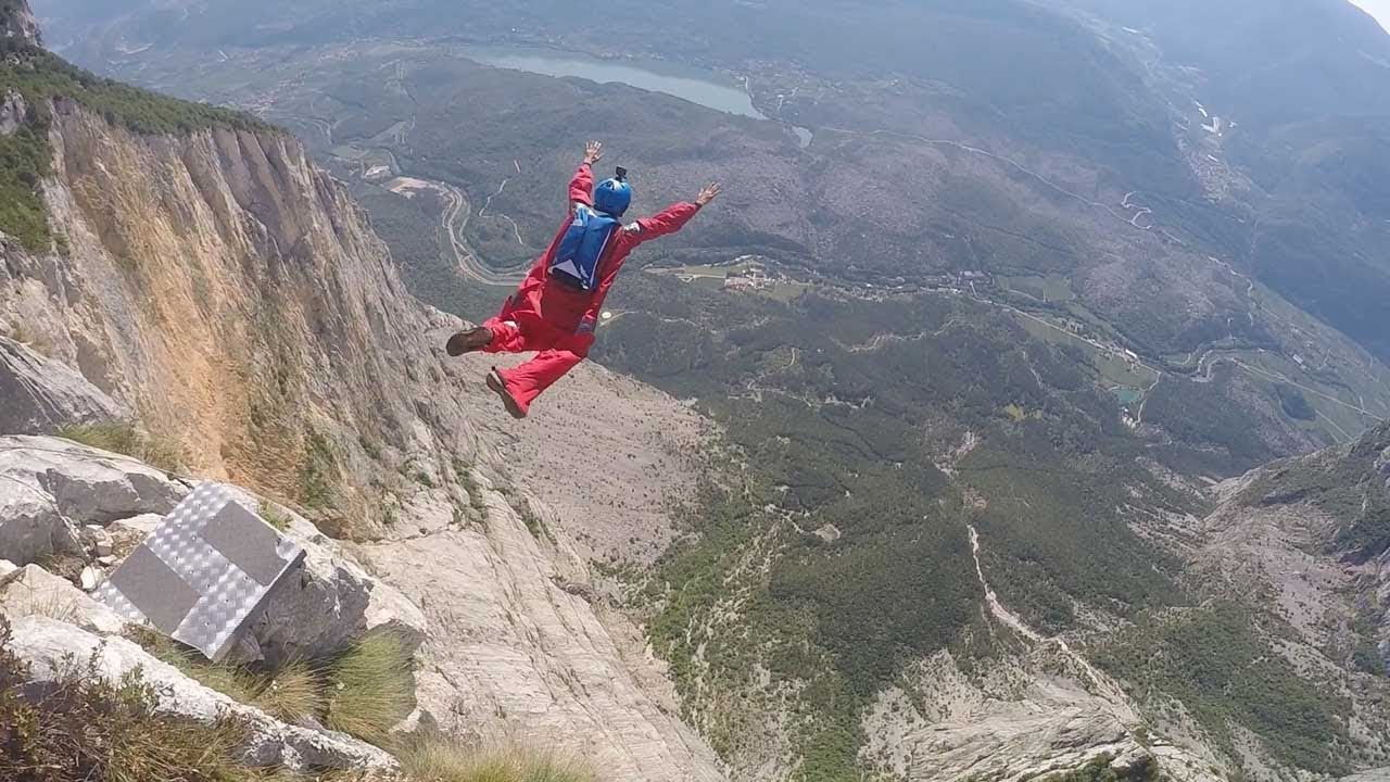 Wing Suit Jumper 'Disappears' After Jumping Off Cliff