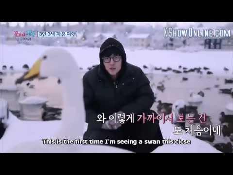 kang ha neul talking to a swan