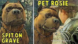 Spit On Marlon's Grave & Ignore Rosie vs Pet Rosie -All Choices- Walking Dead The Final Season Ep2