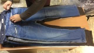 Секонд хенд оптом с Италии NEW . Обзор мужских джинс в фасовке 25 кг.
