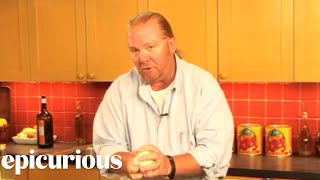 Chef Mario Batali Shows How To Make Cannoli Dough