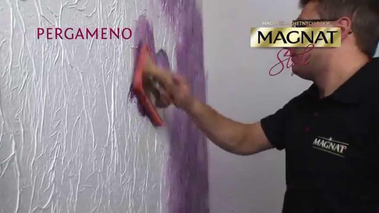 Efekt Pergaminu Na ścianie Pergameno Magnat Style Film Instruktażowy