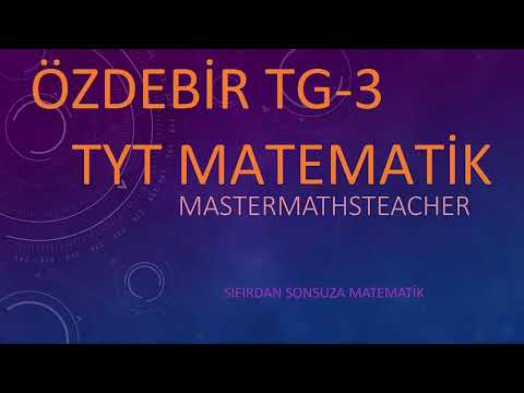 ÖZDEBİR TÜRKİYE GENELİ TYT3 (14-16 ŞUBAT2020)