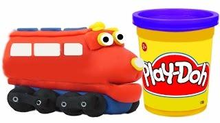 Play Doh Train Wilson We Make Cartoon Character Chuggington Toys VIDEO FOR CHILDREN