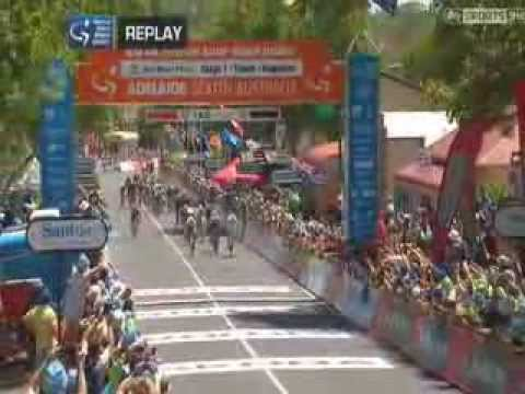 2014 Tour Down Under Stage1 Highlights (Adverts and all Sorry)