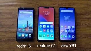Speedtest Vivo Y91 vs Realme C1 vs Redmi 6