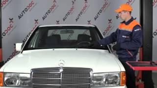 Montering Vindusviskere bak og foran MERCEDES-BENZ 190 (W201): gratis video