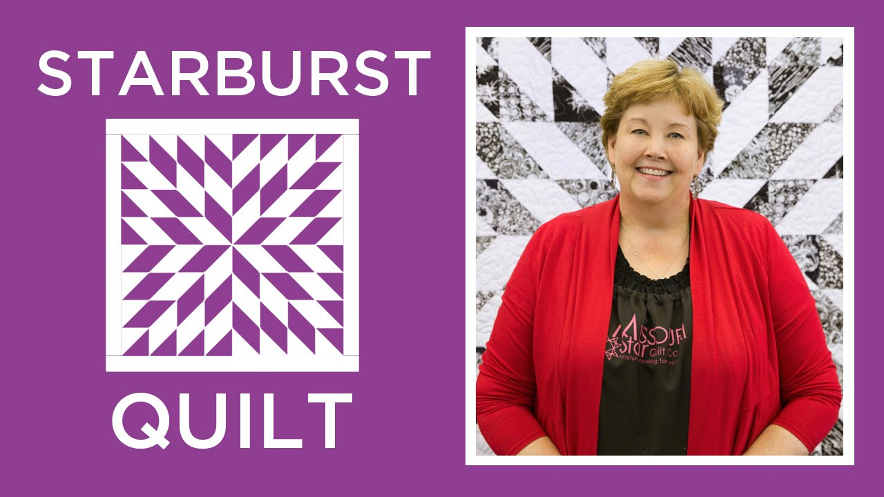 Make an Easy Starburst Quilt with Jenny - YouTube : starburst quilt - Adamdwight.com