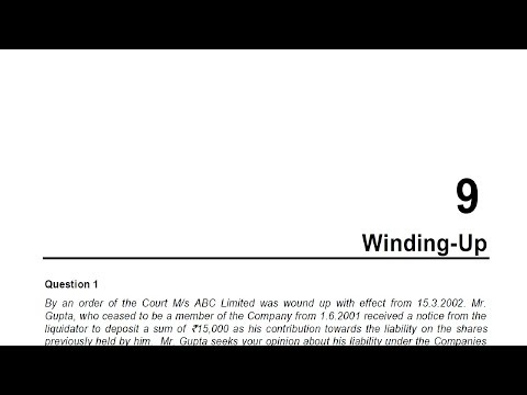 CA Final Corporate and Allied Laws -  Winding Up