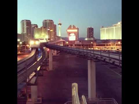 Las Vegas Monorail Arrives At Las Vegas Convention Center