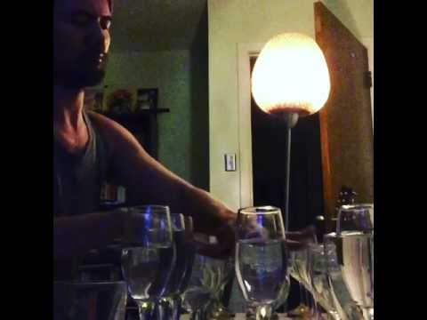 Guy Plays Justin Timberlake's Cry Me A River On Wine Glasses