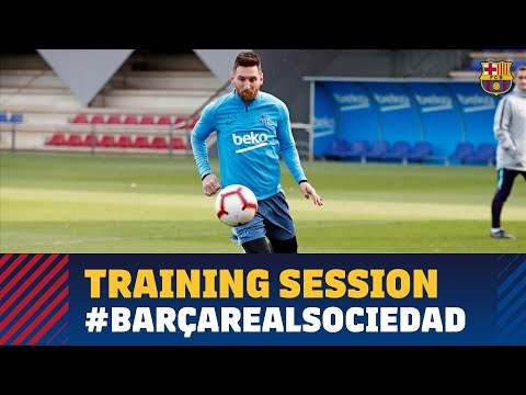 Last training session before LaLiga match against Real Sociedad