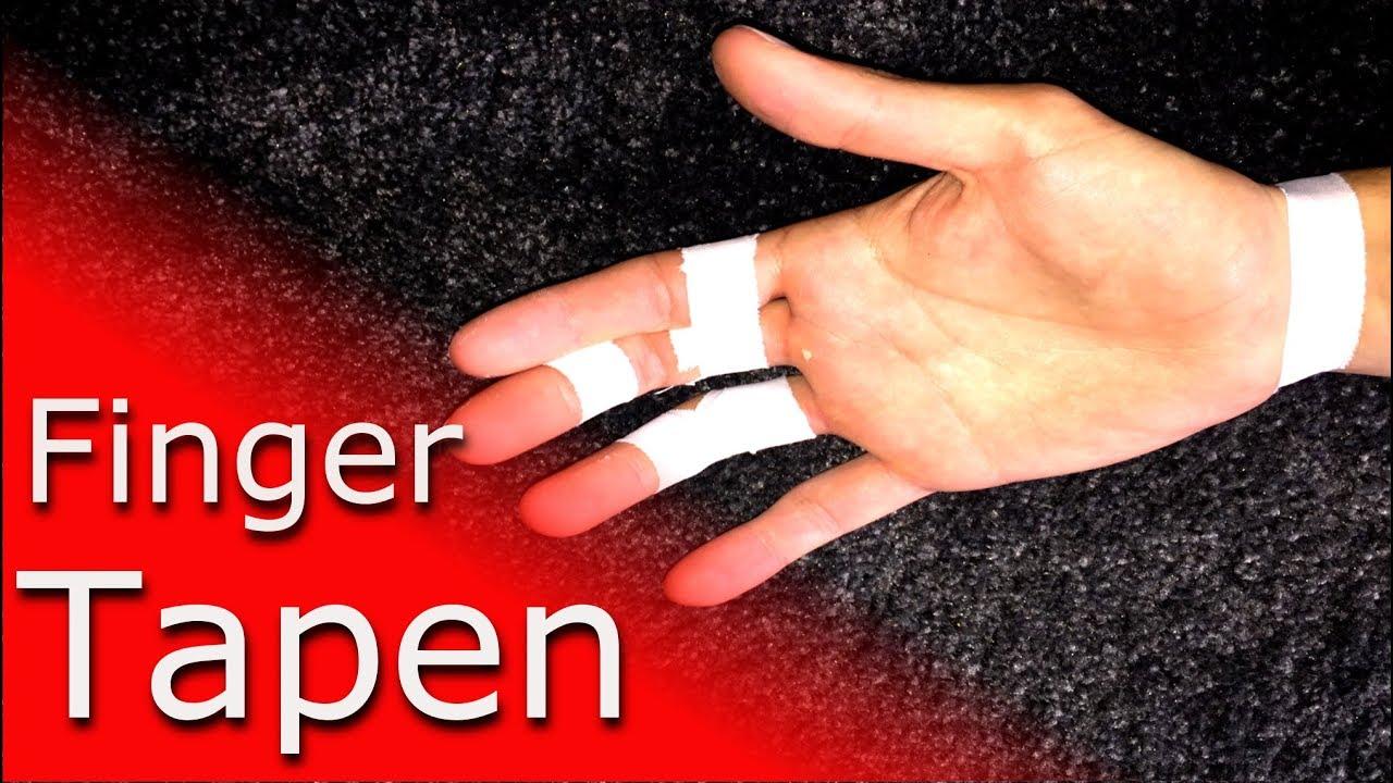 Finger richtig tapen: Grundregeln für Kletterer