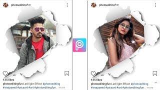 PicsArt Ripped Instagram Portrait | Picsart editing Tutorial | Picsart Photo Editing