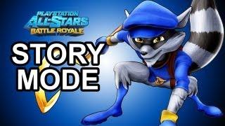 Playstation All Stars Battle Royale - Sly Cooper Story Mode Walkthrough!!