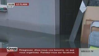 Inondations à Auchy-Les-Mines