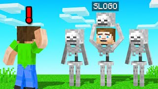 FIND The FAKE SKELETON! (Minecraft Guess Who)