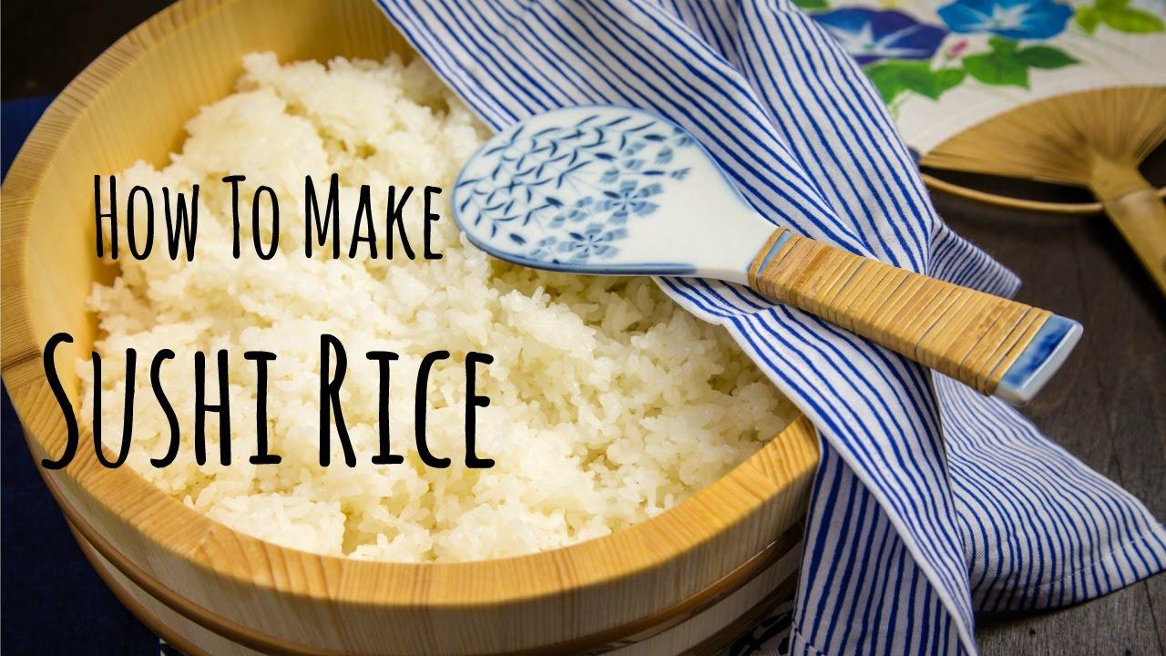 How To Make Sushi Rice Recipe    YouTube