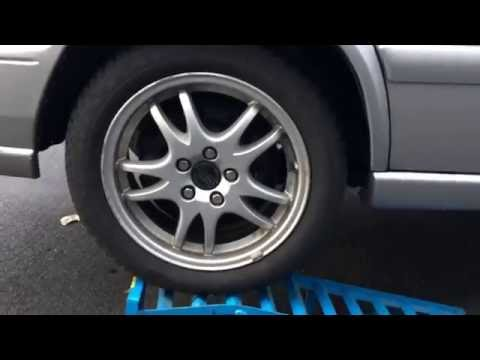 How to use Car Lift Service Ramps Vehicle Ramp rear Version Volvo V70