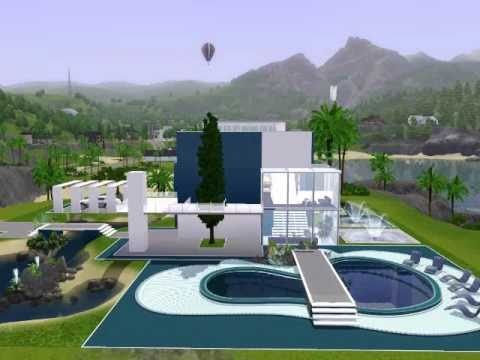 Modern beach house the sims 3 youtube for Best house designs for the sims 3
