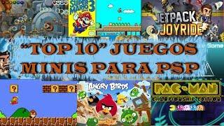 """""""TOP 10"""" DE LOS MEJORES JUEGOS MINIS PARA PSP + LINK DE DESCARGA 2017"""