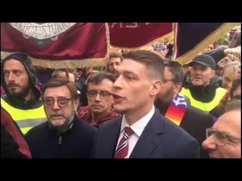 Bergamonews - Belotti ricorda le vittime di Superga