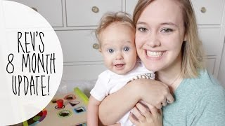 Rev's 7-8 Month Update! | Sleep, Potty Training, + New Toys!