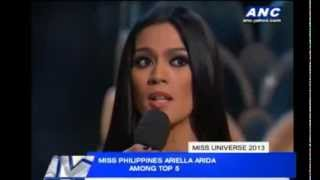Ariella Arida in Miss Universe 2013 Question and Answer